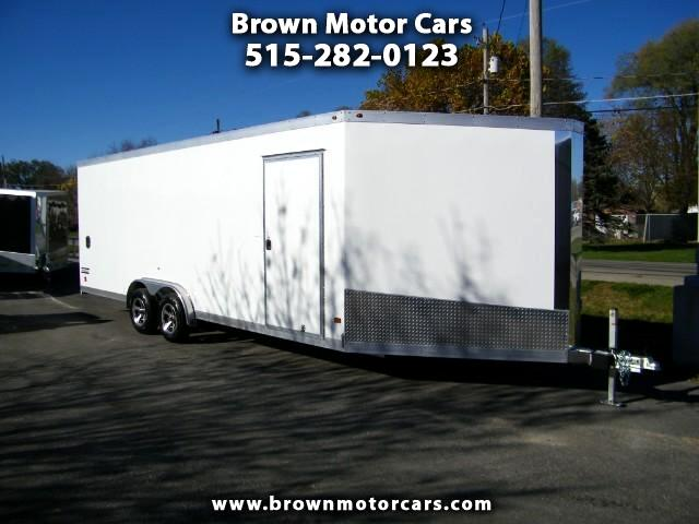 2017 Haulmark Enclosed Trailer HAS75x28 V-Nose SnowmobileTrailer12in Extra Height