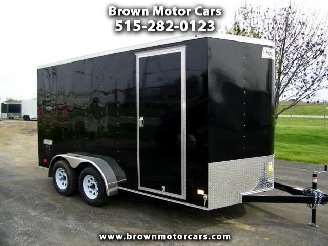 2017 Haulmark Passport 7x14 V-Nose Enclosed Trailer with 7ft Interior Hei