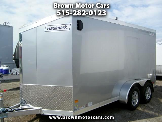 2017 Haulmark HAUV7X14WT2 V-Nose Aluminum Enclosed Trailer Extra Height