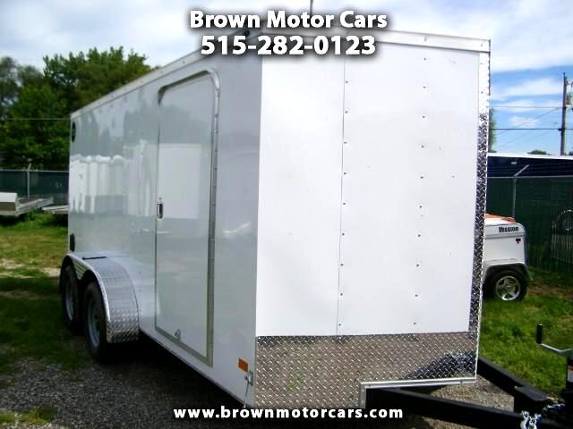 2018 Wells Cargo Trailer WCVG 7x14 V-Nose Enclosed Trailer Cargo Trailer
