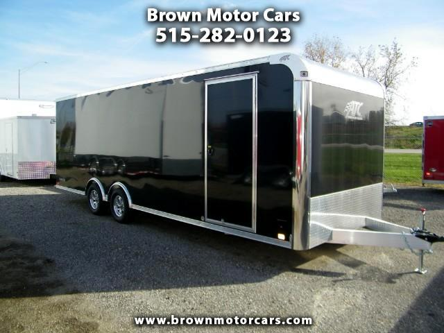 2018 ATC Raven 8.5x24 Aluminum Enclosed Car Hauler 5,200lb Torsio