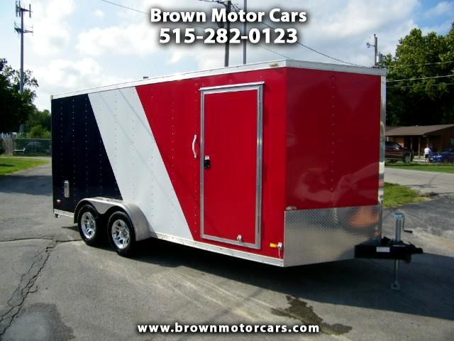 2013 Bravo Trailers Star ST 7x16 V-Nose Enclosed Trailer Tons of Extras