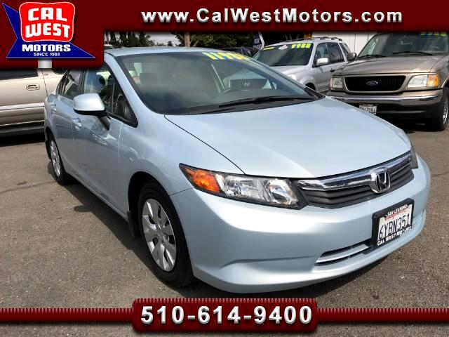 2012 Honda Civic LX Sedan SuperClean  69K Aux USB MPG+ GreatMtnceHi
