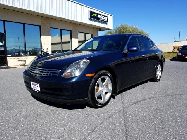 2004 Infiniti G35 Sedan with Leather and 6MT