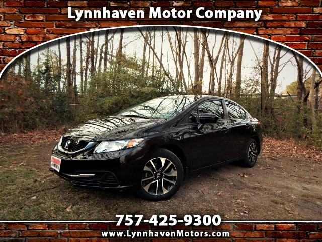 2015 Honda Civic EX w/ Leather Interior, Sunroof, Rear/ Side Camera