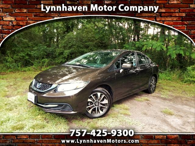 2014 Honda Civic EX Sedan w/ Side & Rear Cameras, Sunroof, 26k Mile