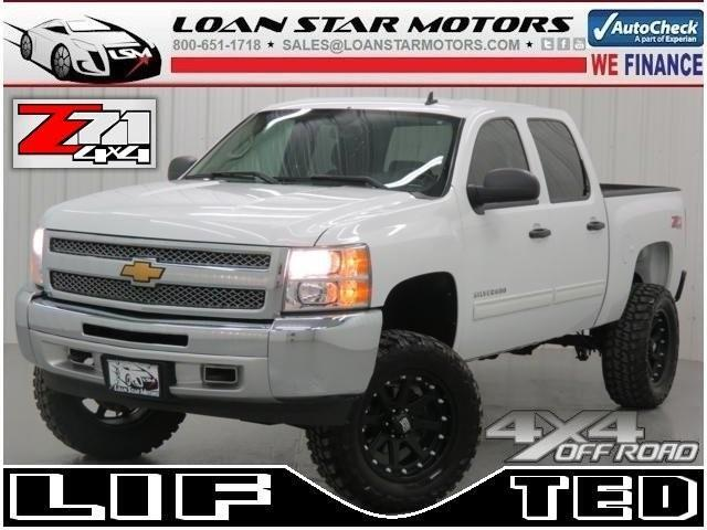 2012 Chevrolet Silverado 1500 LT Crew Cab Z71 4WD LIFTED 4X4 New Wheels/Tires