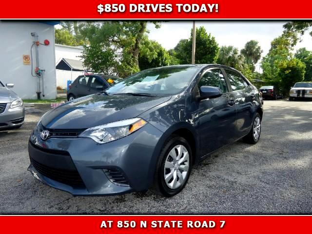 2015 Toyota Corolla 850 DRIVES AT 850 N STATE ROAD 7 Thats right ONLY 850 bucks can get you dri