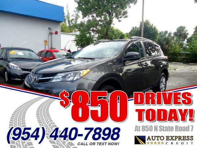 2014 Toyota RAV4 850 DRIVES AT 850 N STATE ROAD 7 Thats right ONLY 850 bucks can get you drivin