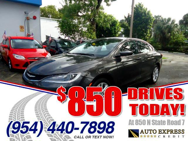 2015 Chrysler 200 850 DRIVES AT 850 N STATE ROAD 7 Thats right ONLY 850 bucks can get you drivi