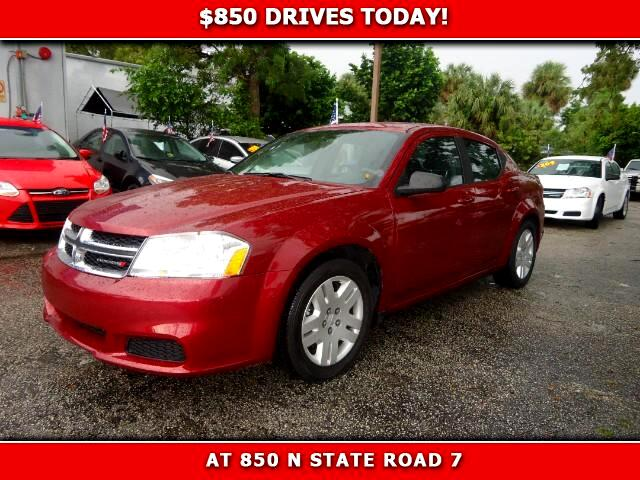 2014 Dodge Avenger 850 DRIVES AT 850 N STATE ROAD 7 Thats right ONLY 850 bucks can get you driv