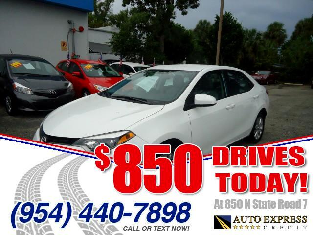 2014 Toyota Corolla 850 DRIVES AT 850 N STATE ROAD 7 Thats right ONLY 850 bucks can get you dri