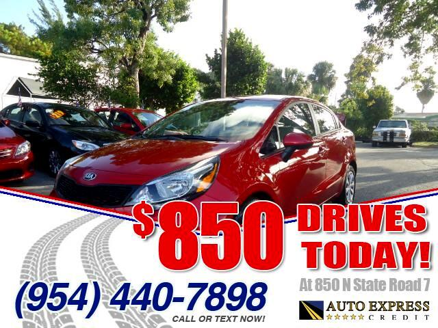 2014 Kia Rio 850 DRIVES AT 850 N STATE ROAD 7 Thats right ONLY 850 bucks can get you driving to