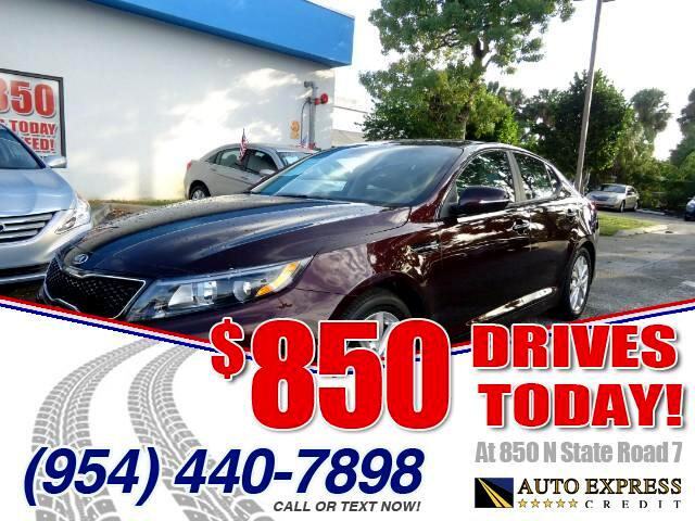 2014 Kia Optima 850 DRIVES AT 850 N STATE ROAD 7 Thats right ONLY 850 bucks can get you driving