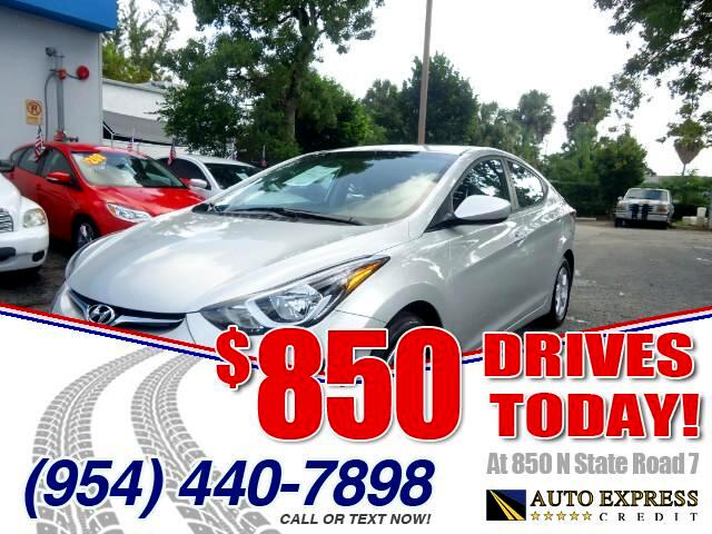2014 Hyundai Elantra 850 DRIVES AT 850 N STATE ROAD 7 Thats right ONLY 850 bucks can get you dr