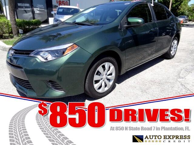 2016 Toyota Corolla The Toyota Corolla compact sedan offers reliable inexpensive transportationThe