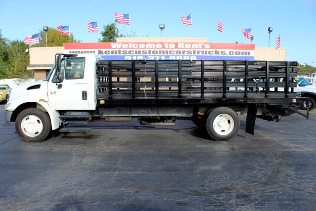 2003 International 4200 Conventional Cab Stake Body Flatbed