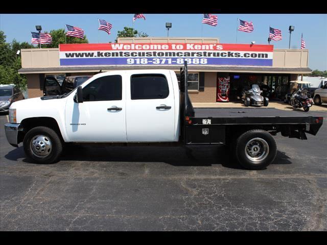 2012 Chevrolet Silverado 3500HD Work Truck Crew Cab DRW 4WD Flatbed