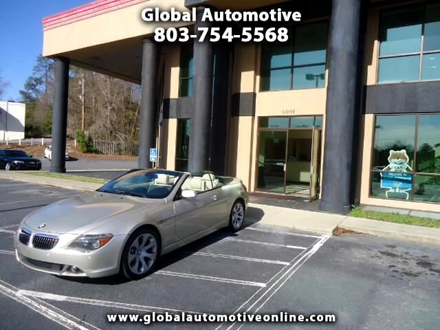 2007 BMW 6-Series SILVER PEWTER EXTERIOR WITH BEIGE INTERIOR NAVIGATION SPORT EDITION EXTRA CLEAN P