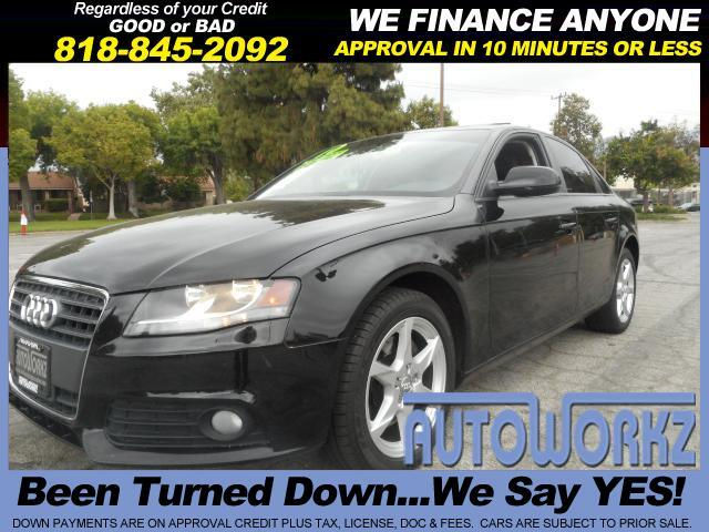 2010 Audi A4 WOW CHECK THIS ONE OUT BLACK ON BLACK HAR TO FIND LEATHER TINTED WIDNOWS AND AUTOMATIC