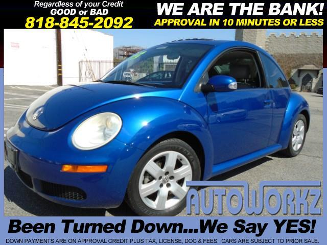 2007 Volkswagen New Beetle WOW CHECK THIS BEETLE OUT ONE OWNER CA CAR AUTO LEATHER TINTED WINDOWS A
