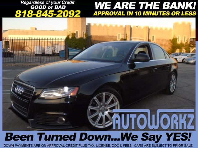 2009 Audi A4 WOW BLACK ON BLACK AUDI LIKE NEW CHECK THIS ONE OUT AUTO LEATHER BACK UP CAMERA Join o