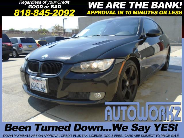 2007 BMW 3-Series BLACK ON BLACK CUSTOM HOOD BLACK WHEELS LIKE NEW RUNS GREAT SPORT SUNROOF AUTO Jo