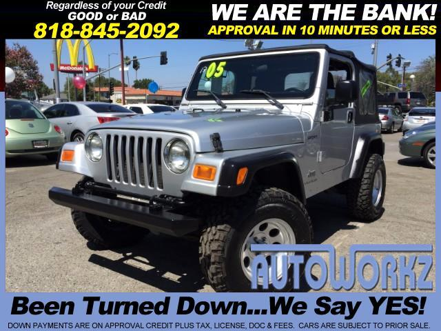 2005 Jeep Wrangler Join our Family of satisfied customers We are open 7 days a week trade in welco