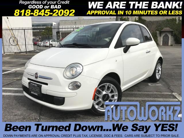 2012 Fiat 500 WOW ONLY 46K MILES GAS SAVER AUTO WHITE MUST SEE Join our Family of satisfied custome