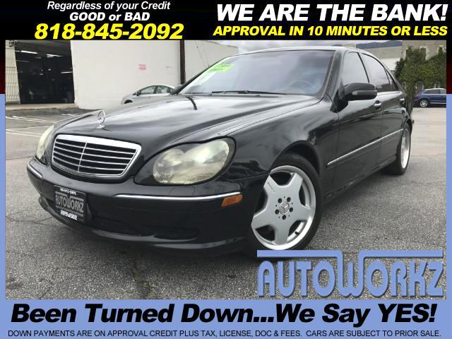 2002 Mercedes S-Class WOW BLACK ON BLACK WE FINANCE LIKE NEW CHECK THIS ONE OUT Join our Family of