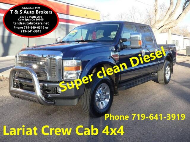 2008 Ford F-250 SD SUPER CLEAN LARIAT 4X4 DIESEL CREW CAB