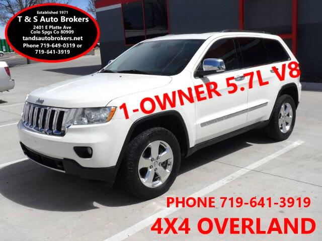 2011 Jeep Grand Cherokee 1-OWNER OVERLAND 4X4 5.7L