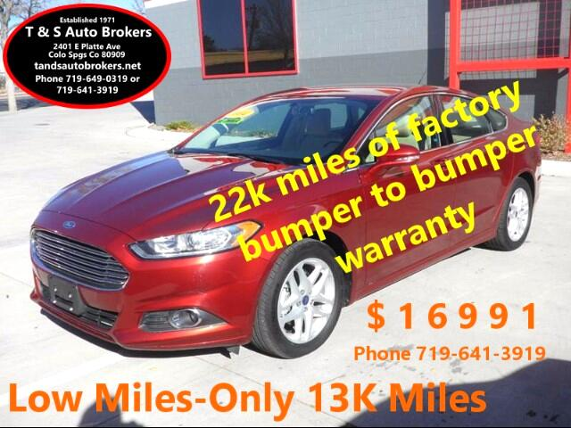 2014 Ford Fusion 1-OWNER SE 1.5L ECO BOOST 13K MILES
