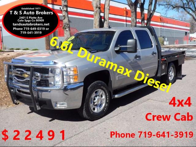 2008 Chevrolet Silverado 2500HD 2500HD Diesel 4x4 Crew Flatbed