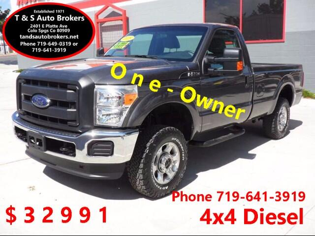 2015 Ford F-250 SD 1-OWNER 4X4 DIESEL REGULAR CAB