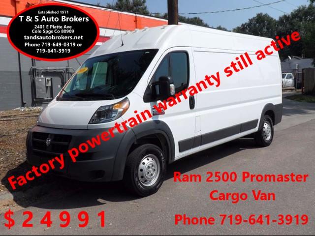2016 RAM Promaster 1-Owner 2500 3dr High Roof Cargo Van