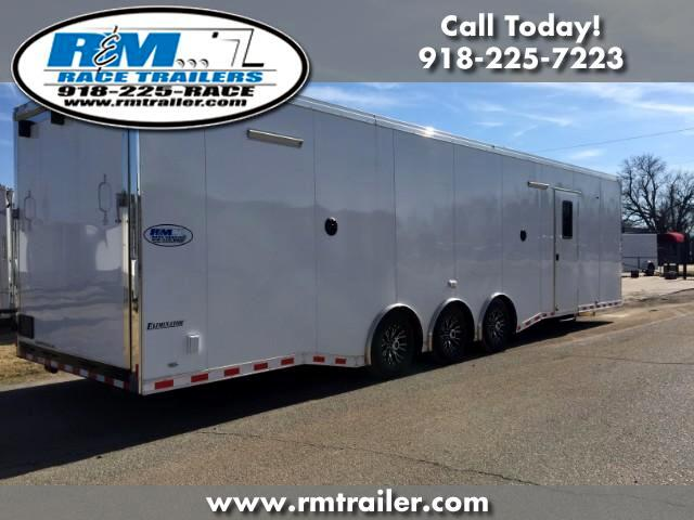 2018 Cargo Mate Eliminator ENCLOSED RACE TRAILER WITH BATHROOM SHOWER