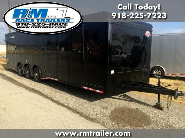 2018 Cargo Mate Eliminator 32FT ENCLOSED RACE TRAILER BLACK OUT