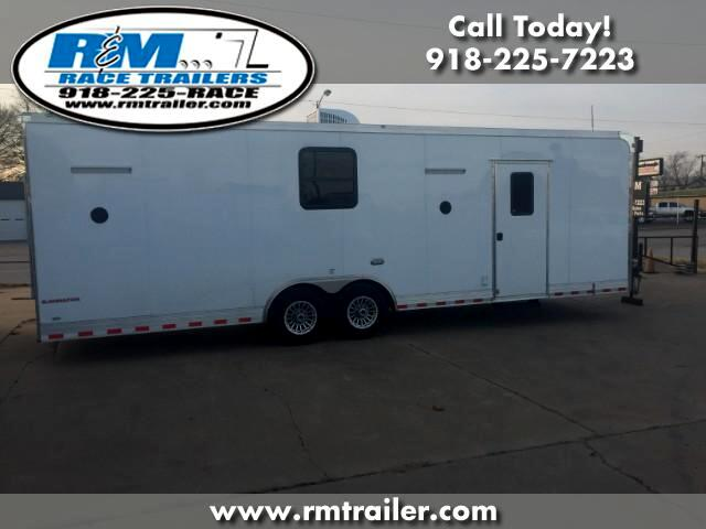 2018 Cargo Mate Eliminator 28FT ENCLOSED TRAILER WITH BATHROOM SHOWER