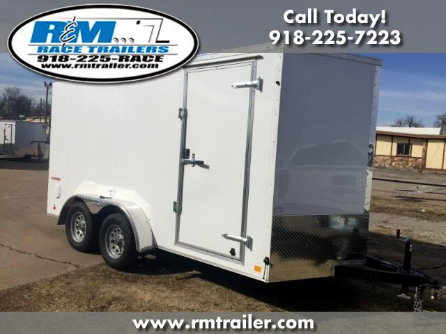 2019 Cargo Mate E Series Wedge ENCLOSED TRAILER 7X14