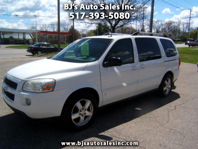 2007 Chevrolet Uplander has an entertainment center dvd player drop down tv very sharp inside and