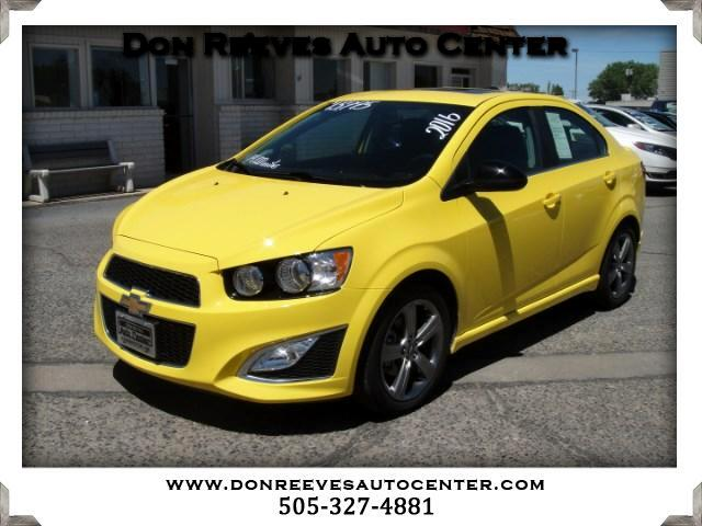 2016 Chevrolet Sonic RS Manual Sedan