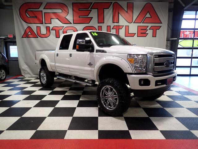 2016 Ford F-250 SD 1 OWNER LIFTED LARIAT PLATINUM CREW DIESEL 4X4 31K