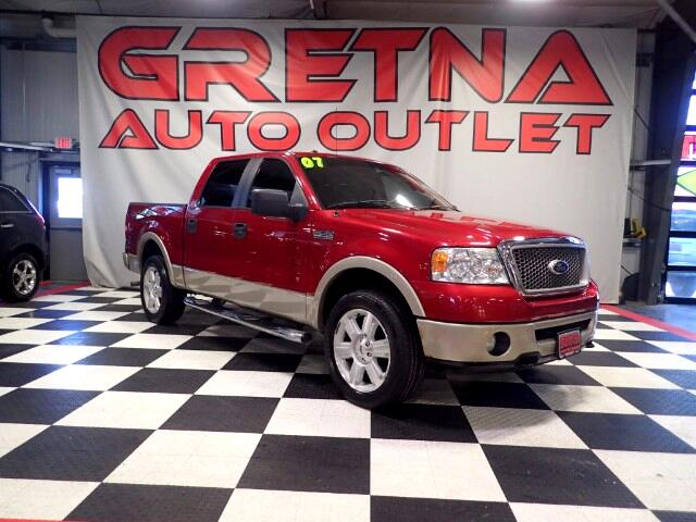 2007 Ford F-150 LARIAT SUPERCREW 4X4 HEATED LEATHER MOONROOF 99K!