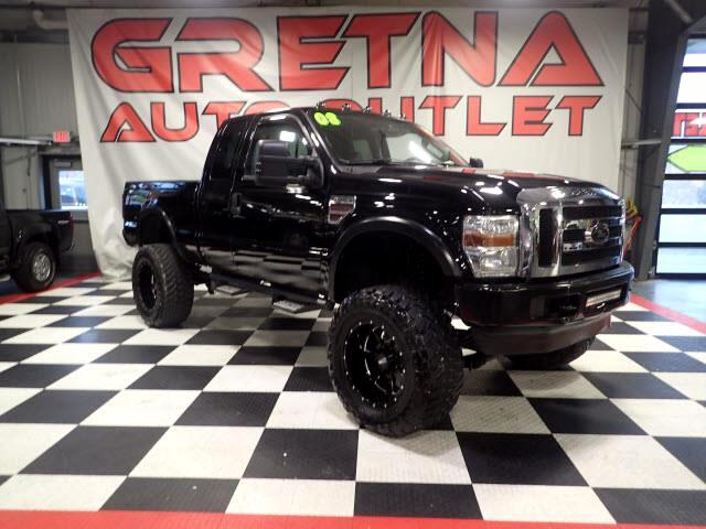 2008 Ford F-250 SD LIFTED XLT LEATHER SUPERCAB 4X4 MBRP TURBO DIESEL!