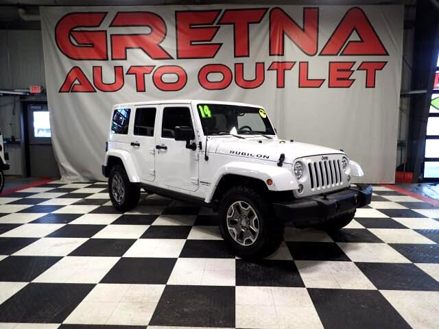2014 Jeep Wrangler UNLIMITED RUBICON 4X4 V6 NAV HEATED LEATHER 78K!