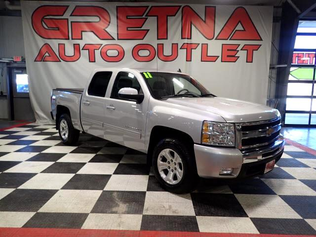 2011 Chevrolet Silverado 1500 LTZ CREW Z71 4X4 HEATED LEATHER DUAL REAR DVD 111K