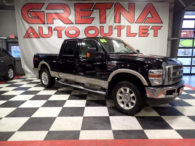 2008 Ford F-250 SD LARIAT CREW DIESEL 4X4 LOW MILES 88K FACTORY DVD!