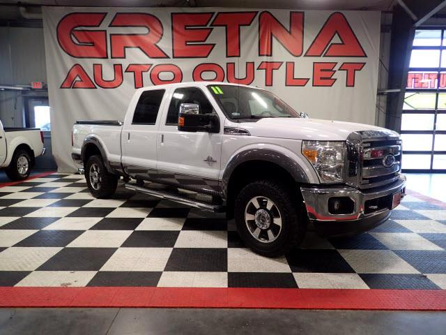 2011 Ford F-250 SD 1 OWNER LARIAT AUTO TURBO DIESEL 4X4 H/C LEATHER!