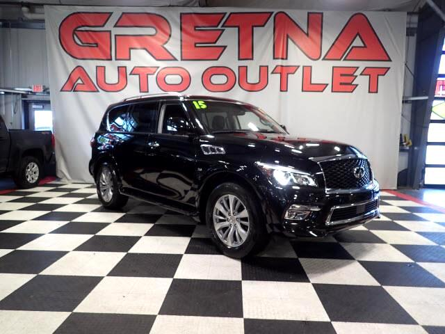 2015 Infiniti QX80 4WD 1 OWNER HEATED LEATHER NAV ROOF LOW MILES 44K!